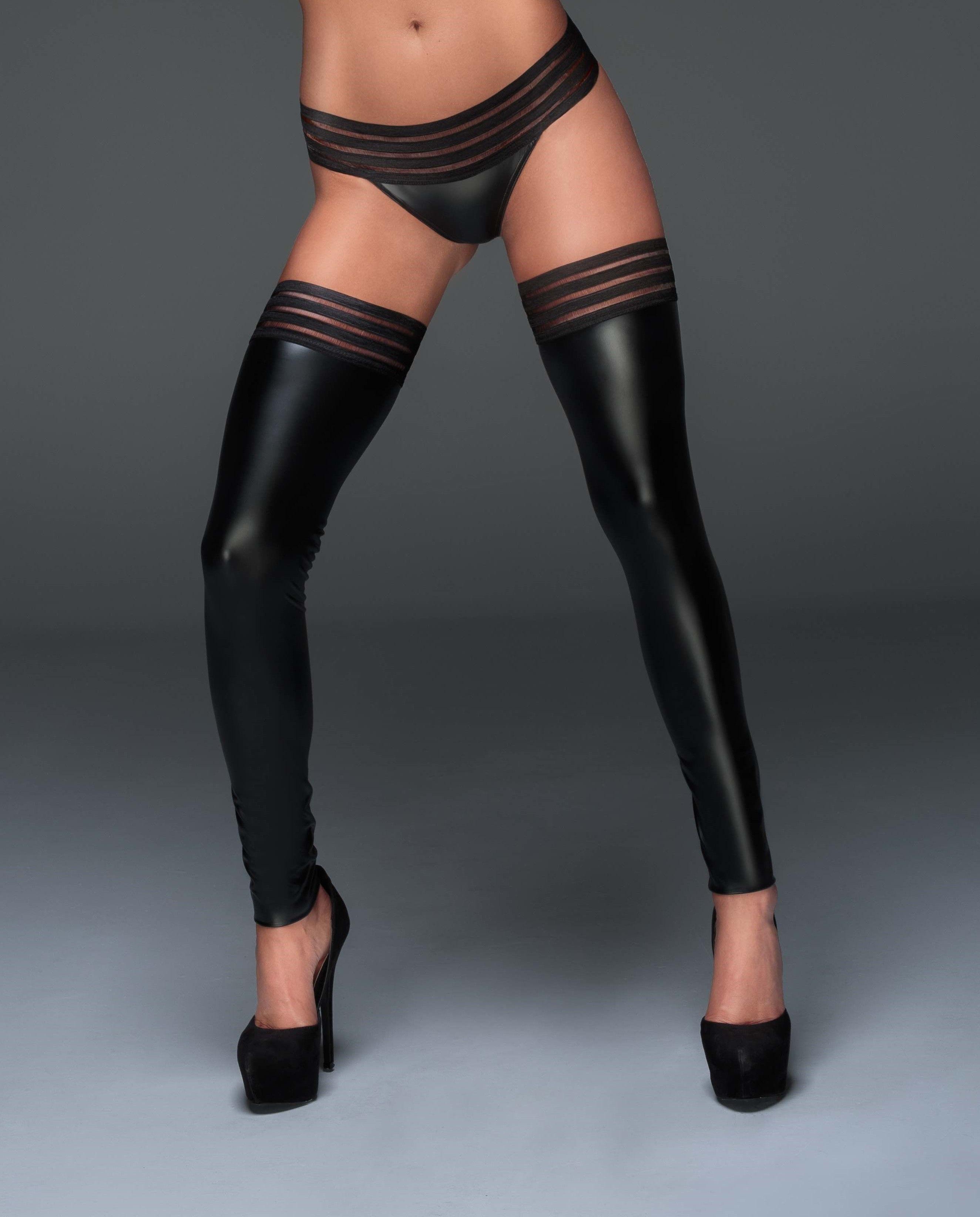 Noir Handmade F161 Powerwetlook Panty with Elastic Tape L