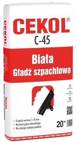 Biała gładź szpachlowa Cekol C-45 1 kg