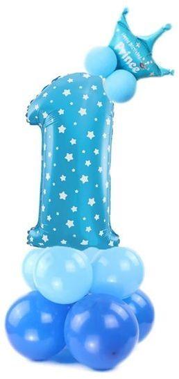 Zestaw balonów na Roczek chłopca niebieskie 400135