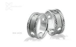Obrączki srebrne - wzór Ag-076