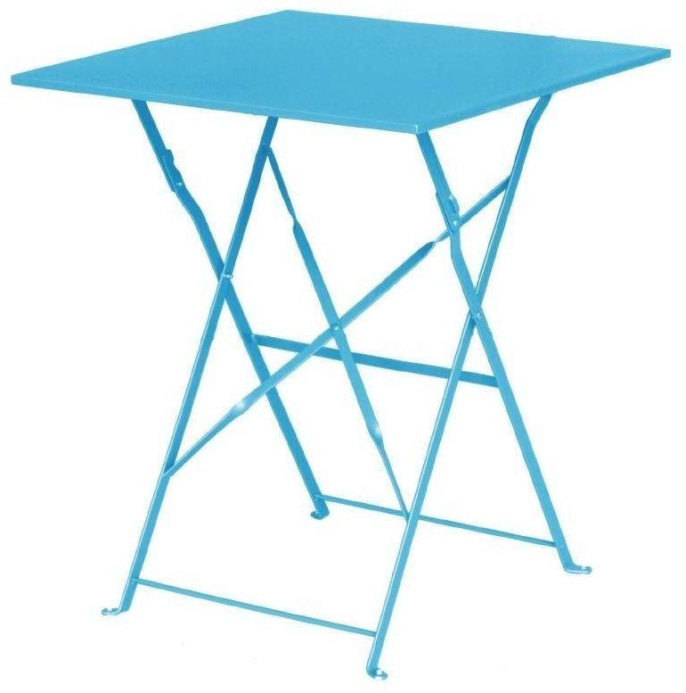 Stolik kawiarniany niebieski 60x60x(H)71cm