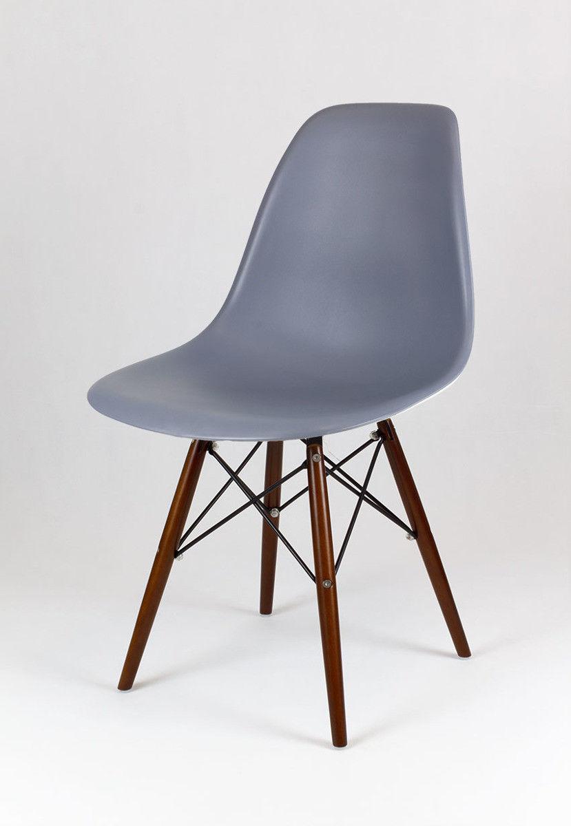 Sk Design Kr012 Ciemnoszare Krzesło Wenge