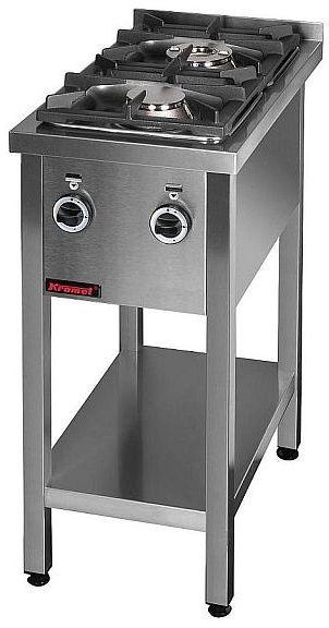 Kuchnia gastronomiczna gazowa 2-palnikowa KROMET 000.KG-2M