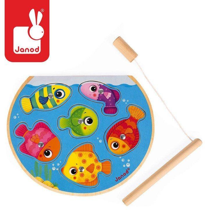 JANOD Puzzle z magnesami Szybkie rybki z wędką