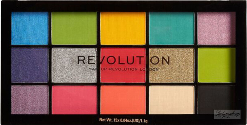 MAKEUP REVOLUTION - RE-LOADED - Paleta 15 cieni do powiek - EUPHORIA