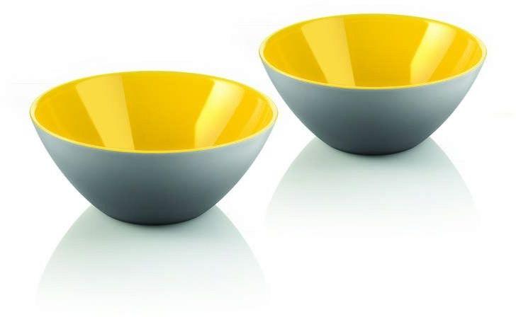 Guzzini - my fusion - kpl. 2 miseczek, szaro-żółtych - żółty szary