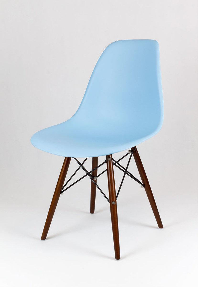 Sk Design Kr012 Jasnoniebieskie Krzesło Wenge