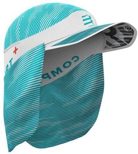 COMPRESSPORT Czapka biegowa z daszkiem ICE CAP SUN SHADE biało-błękitna
