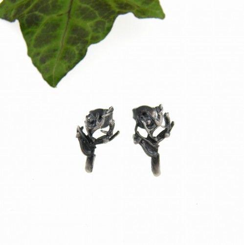 Drzewka małe - kolczyki srebrne