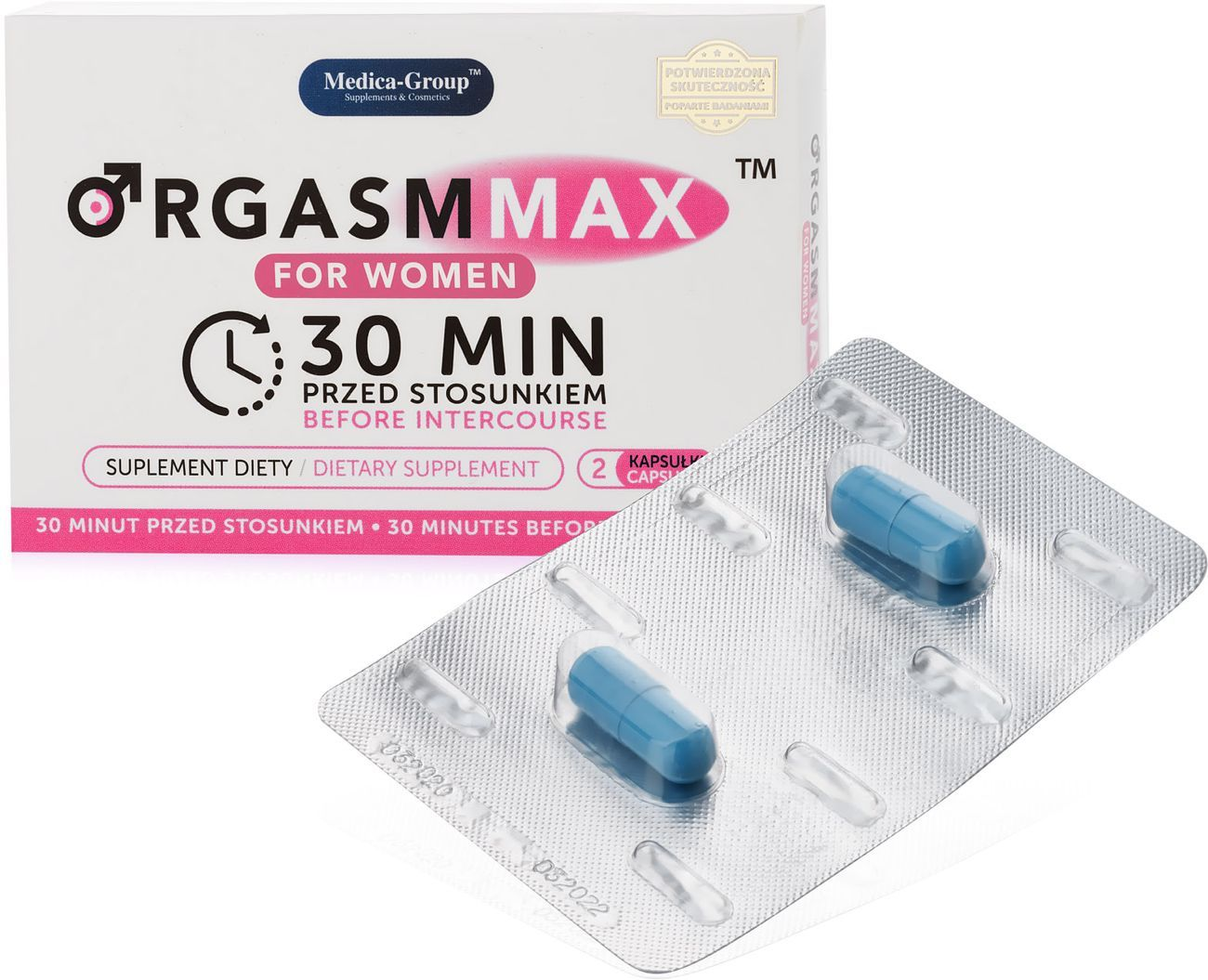 ORGASM MAX FOR WOMEN - TABLETKI NA LIBIDO - 2 KAPSUŁKI - 75904889
