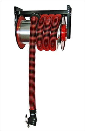 Bębnowy odsysacz spalin Klimawent ALAN-U/C-12-N z napędem sprężynowym, zestawem wężowym dł. 12m, śr. 100mm. NEGOCJUJ CENĘ