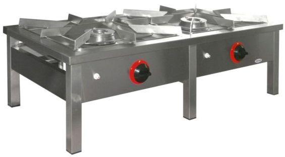 Taboret gastronomiczny gazowy 2-palnikowy EGAZ TG-217.I