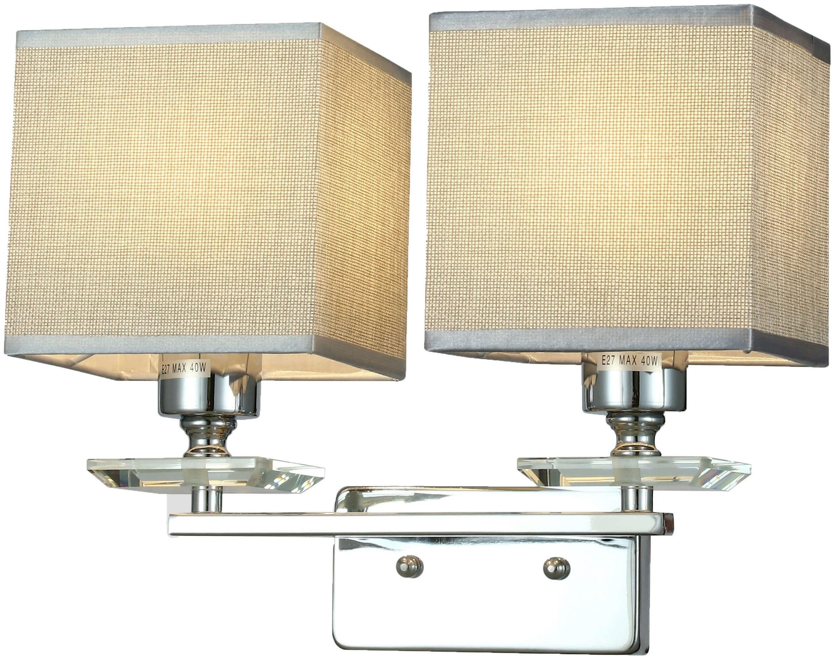 LAMPA ŚCIENNA KINKIET CHROMOWANY LINIANO W2