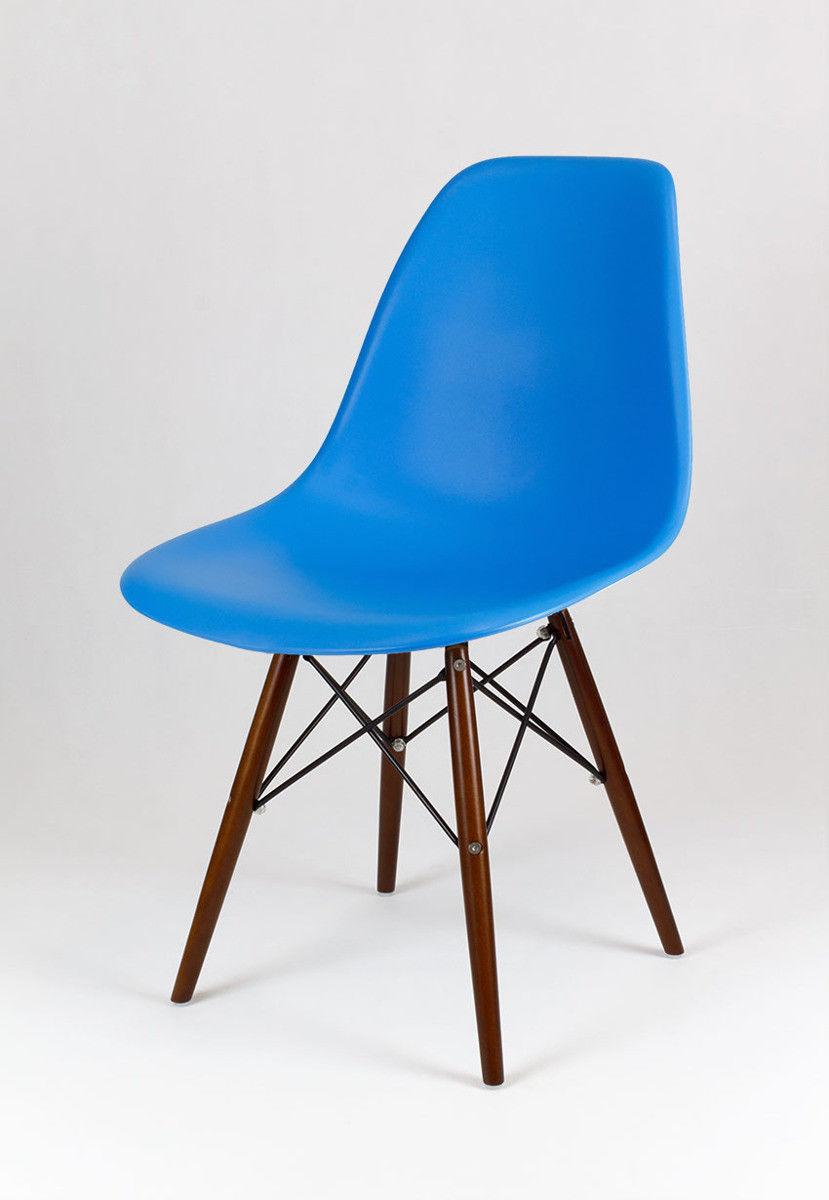 Sk Design Kr012 Niebieskie Krzesło Wenge