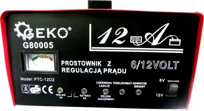 Prostownik 6/12V 12A 20Ah-120Ah