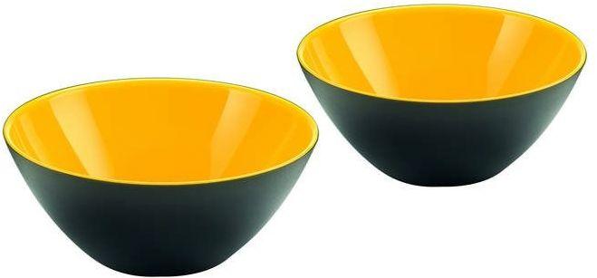 Guzzini - my fusion - kpl. 2 miseczek,czarno - żółte - czarny żółty