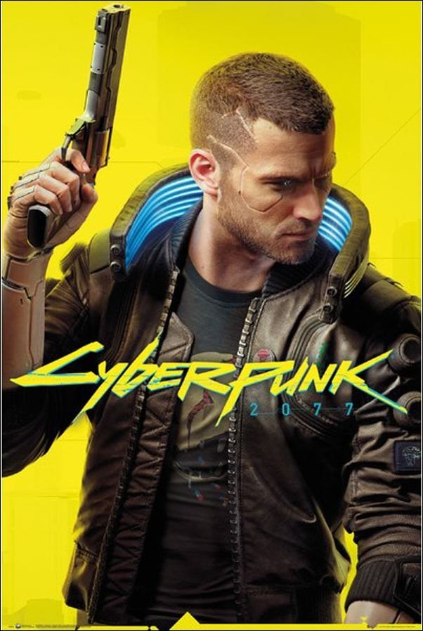 Cyberpunk 2077 ready player v - plakat
