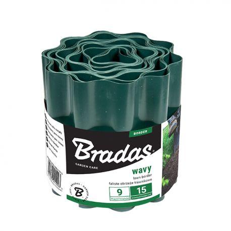 Obrzeże faliste trawnikowe palisada 9m/25cm zielone Bradas 1178