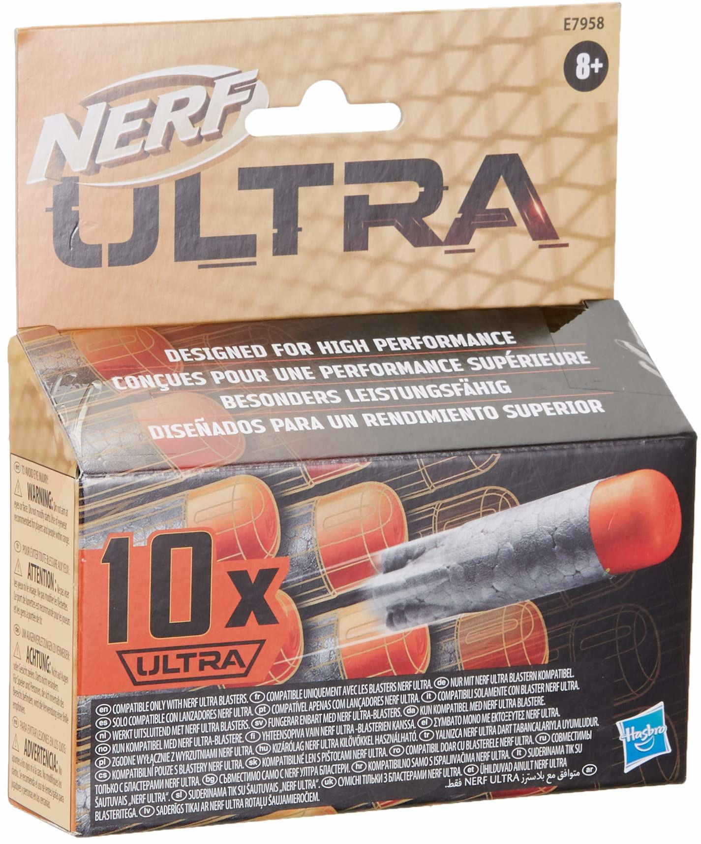 Zestaw 10 strzałek Nerf Ultra, doskonała jakość strzałek Nerf, zgodne wyłącznie z wyrzutniami Nerf Ultra