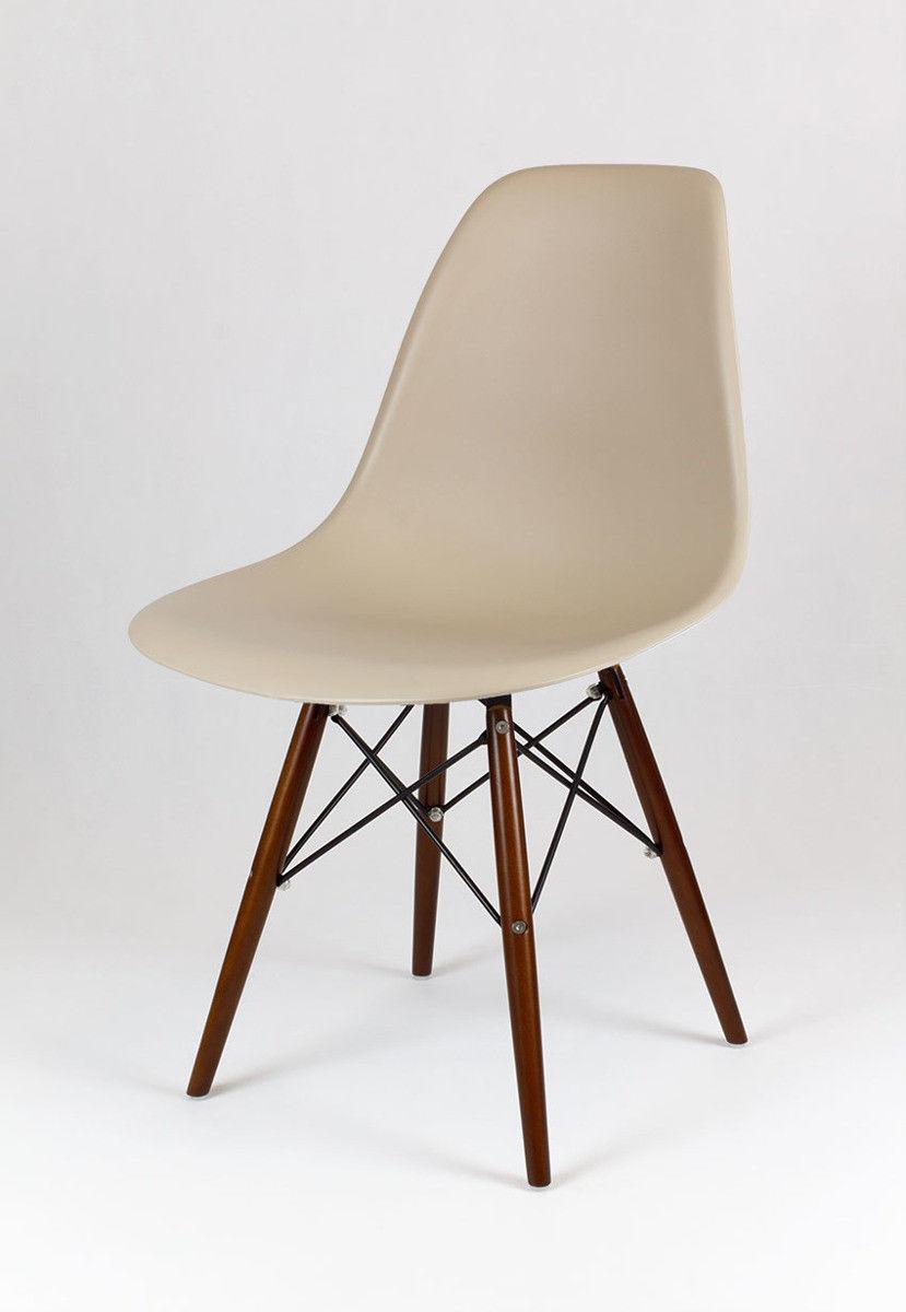 Sk Design Kr012 Beżowe Krzesło Wenge