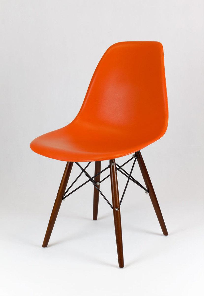 Sk Design Kr012 Pomarańczowe Krzesło Wenge