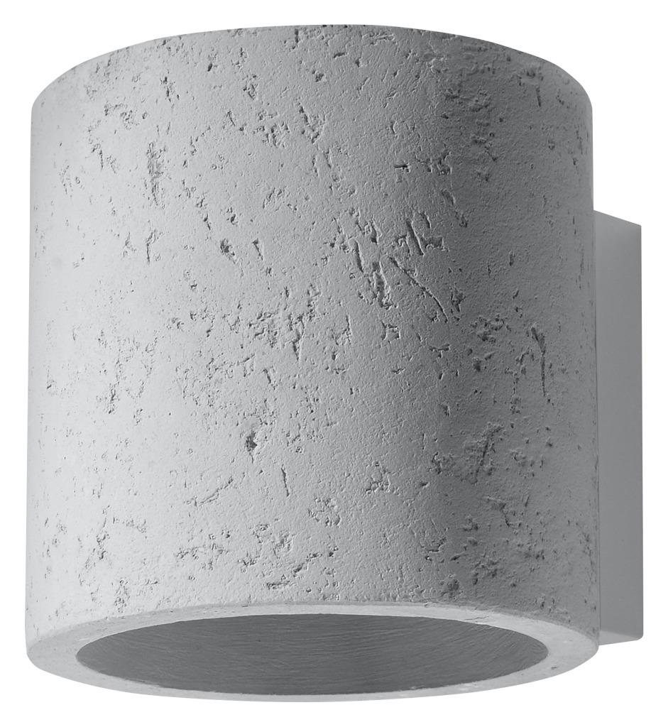 Kinkiet betonowy Orbis szary industrialny SL.0486 - Sollux // Rabaty w koszyku i darmowa dostawa od 299zł !