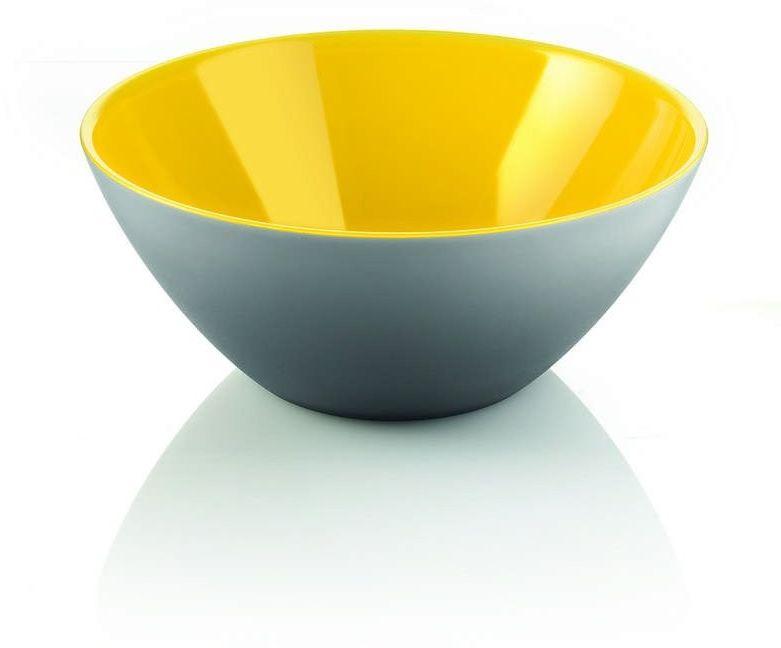 Guzzini - my fusion - misa 20 cm, czarno - żółta - czarny żółty