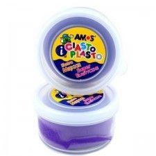 Ciastolina dla dzieci AMOS fioletowa, 1 szt