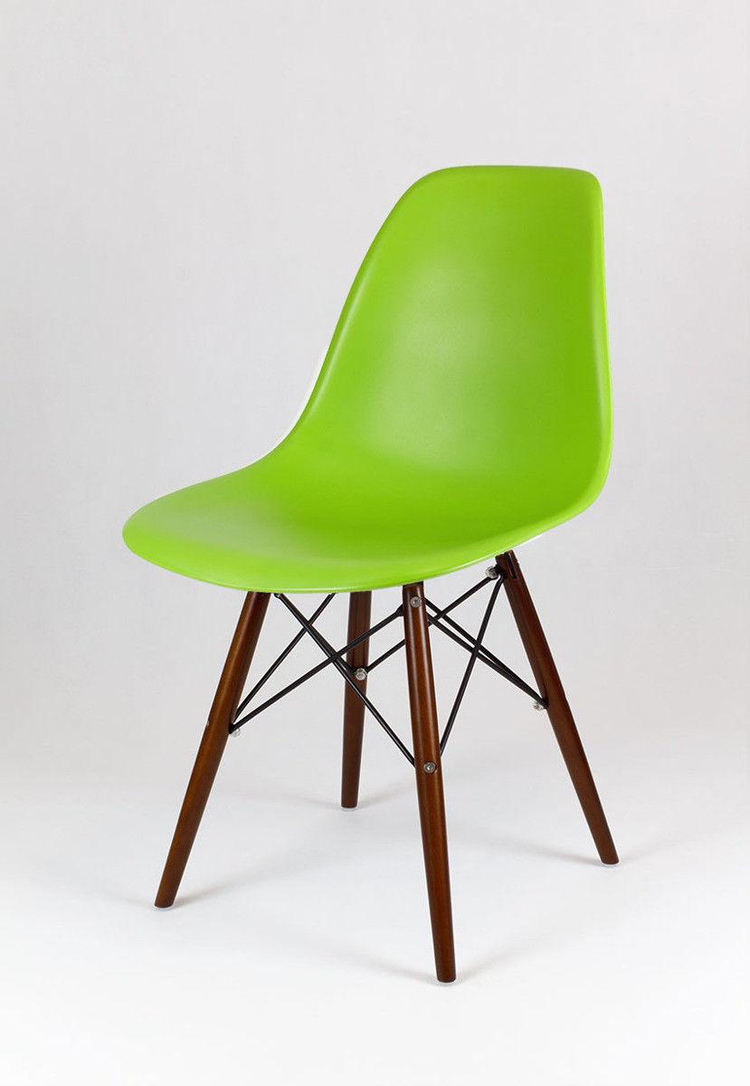 Sk Design Kr012 Zielone Krzesło Wenge