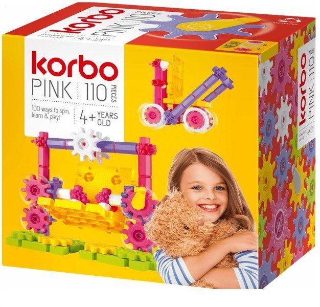 Pink klocki 110 el - Korbo