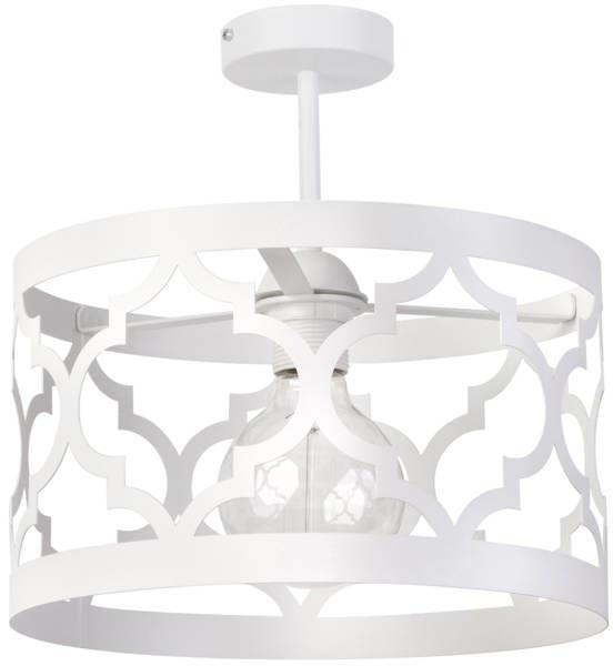 Orientalna lampa sufitowa MODUŁ MAROKO PLAFON M biały 31597