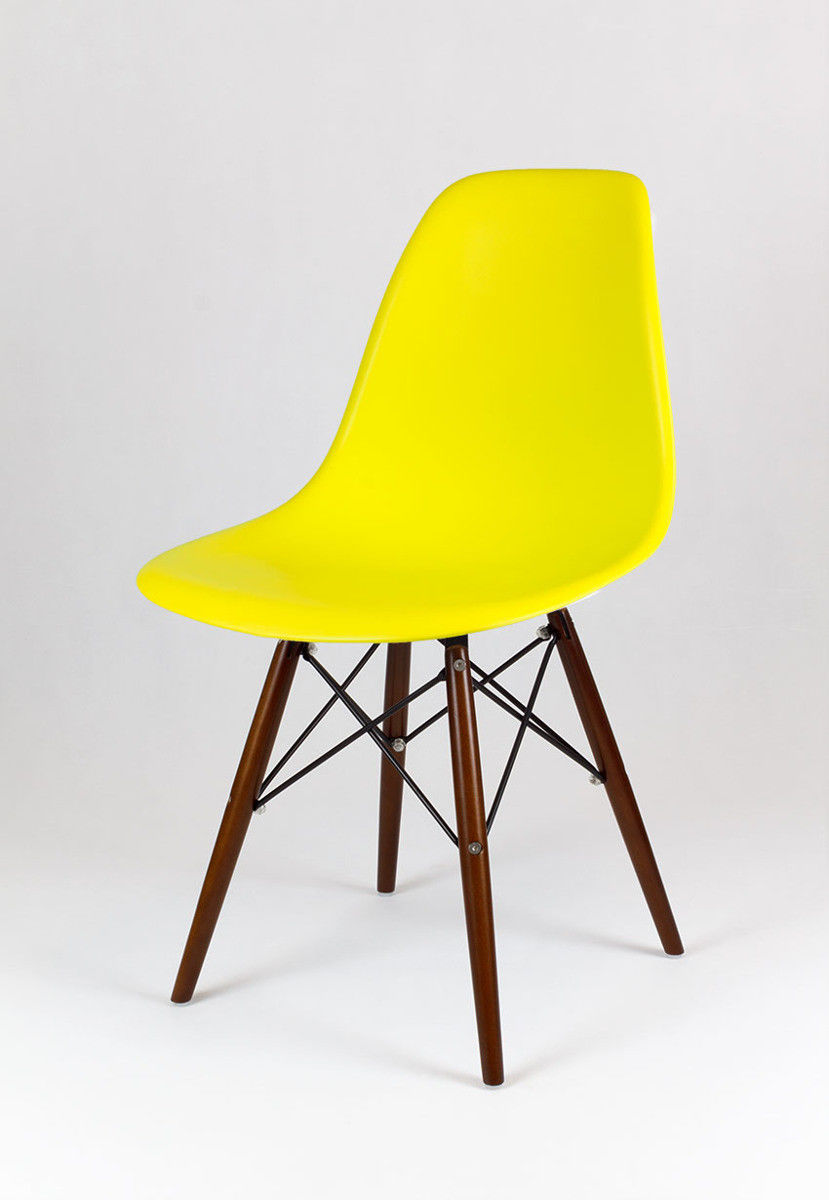 Sk Design Kr012 Żółte Krzesło Wenge