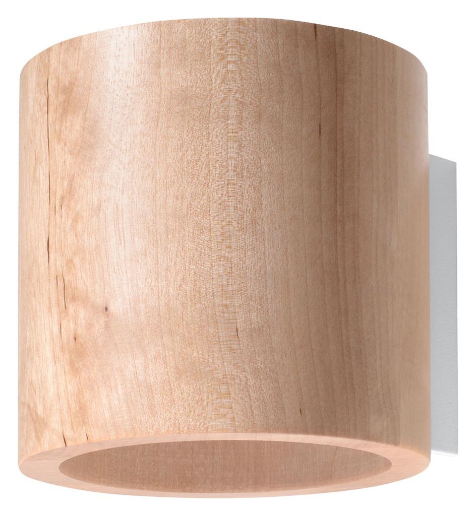 Kinkiet ORBIS naturalne drewno SL.0490 - Sollux Do -17% rabatu w koszyku i darmowa dostawa od 299zł !