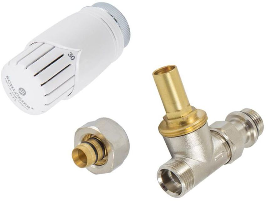 Zestaw termostatyczny RTL PROSTY NIKLOWANY 16 x 2 SCHLOSSER