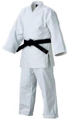 Judogi plecionka - białe 12oz