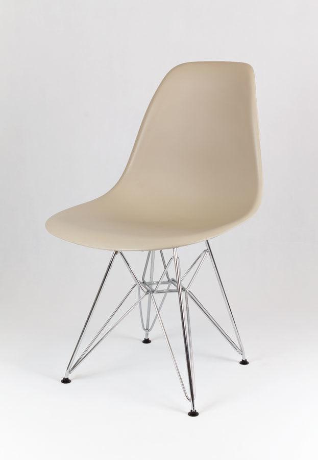 Sk Design Kr012 Beżowe Krzesło Chrom