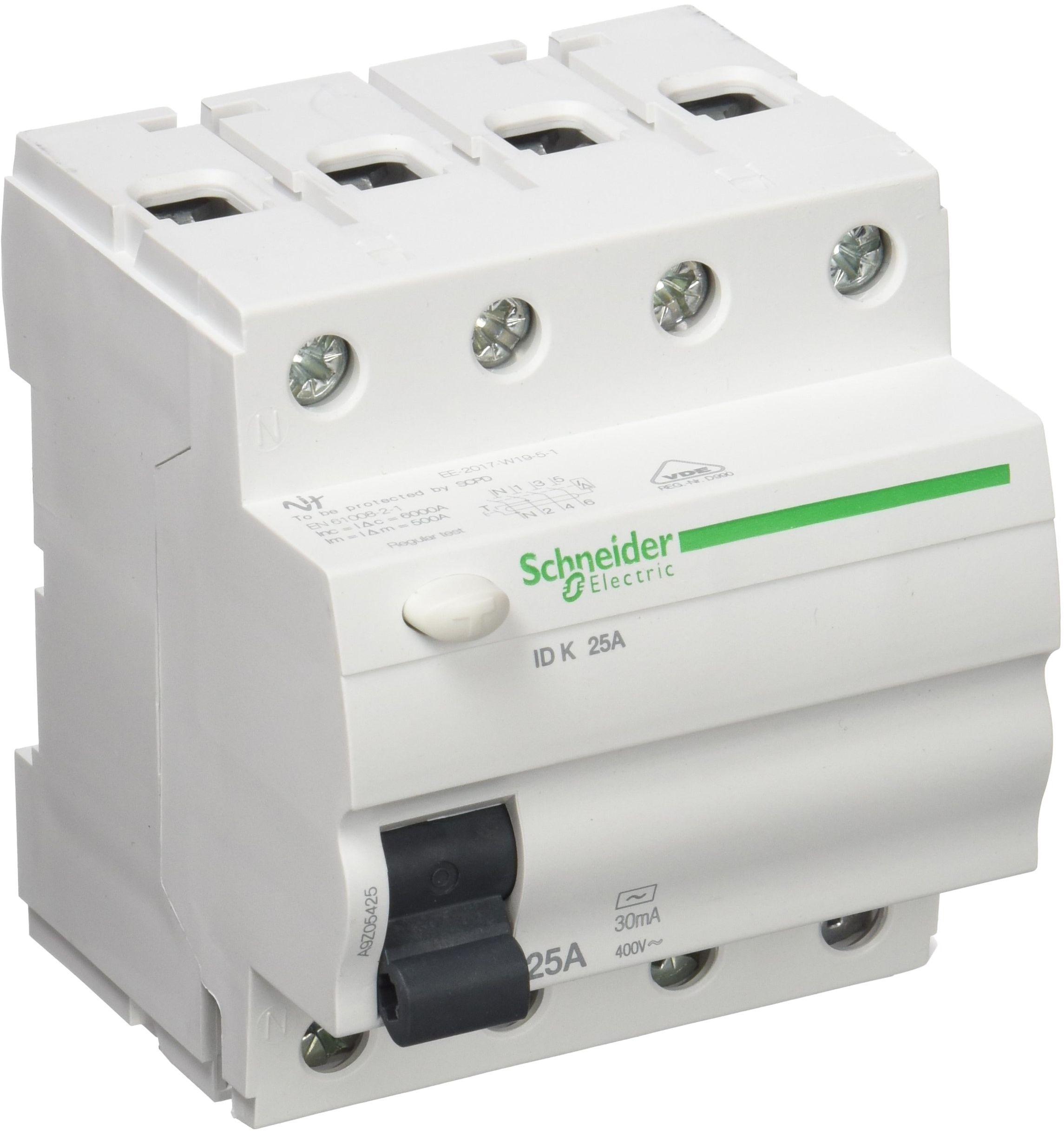 Schneider Electric a9z05425 wyłącznik różnicowoprądowy, 4P, 25 A, 30 mA, AC