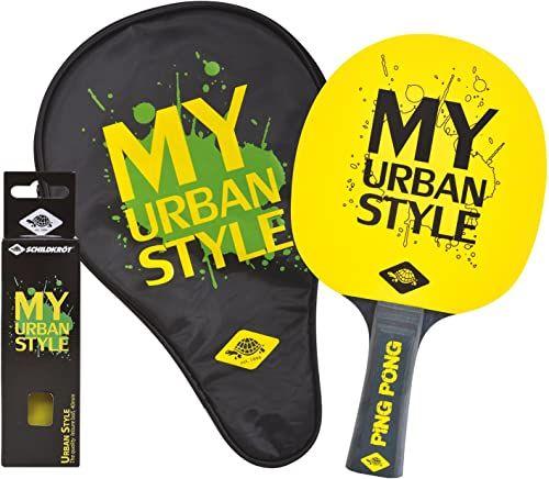 Donic-Schildkröt Zestaw upominkowy do tenisa stołowego My Urban Style, 1 rakieta, 3 piłki, pokrowiec na rakiety, 788485