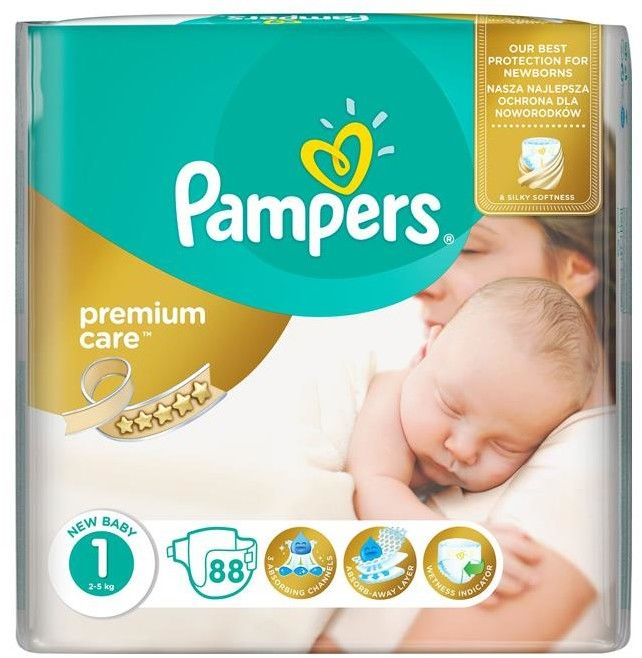 Pieluszki Pampers Premium Care Newborn (2-5 kg) 78 szt.