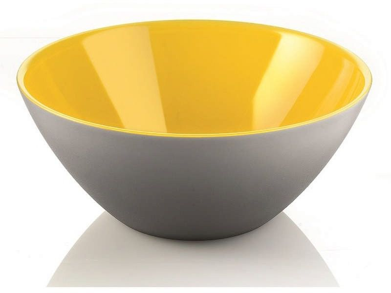 Guzzini - my fusion - misa 25 cm, szaro - żółta - żółty szary