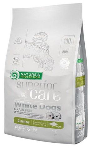 Nature''s Protection White Dogs Grain Free White Fish Junior Small and Mini Breeds