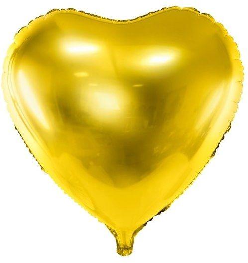 Balon foliowy Serce złote 45cm 1 sztuka FB9M-019