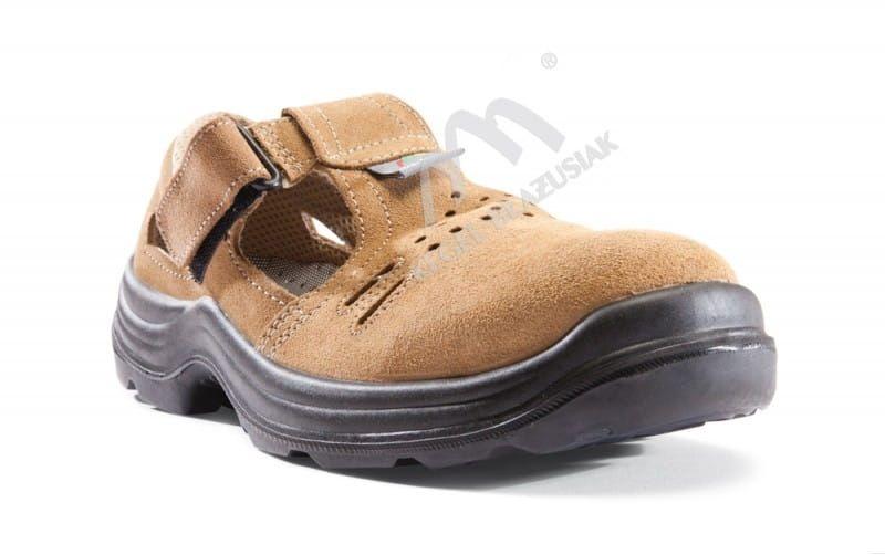 Sandał roboczy Komfort S1+P brązowy