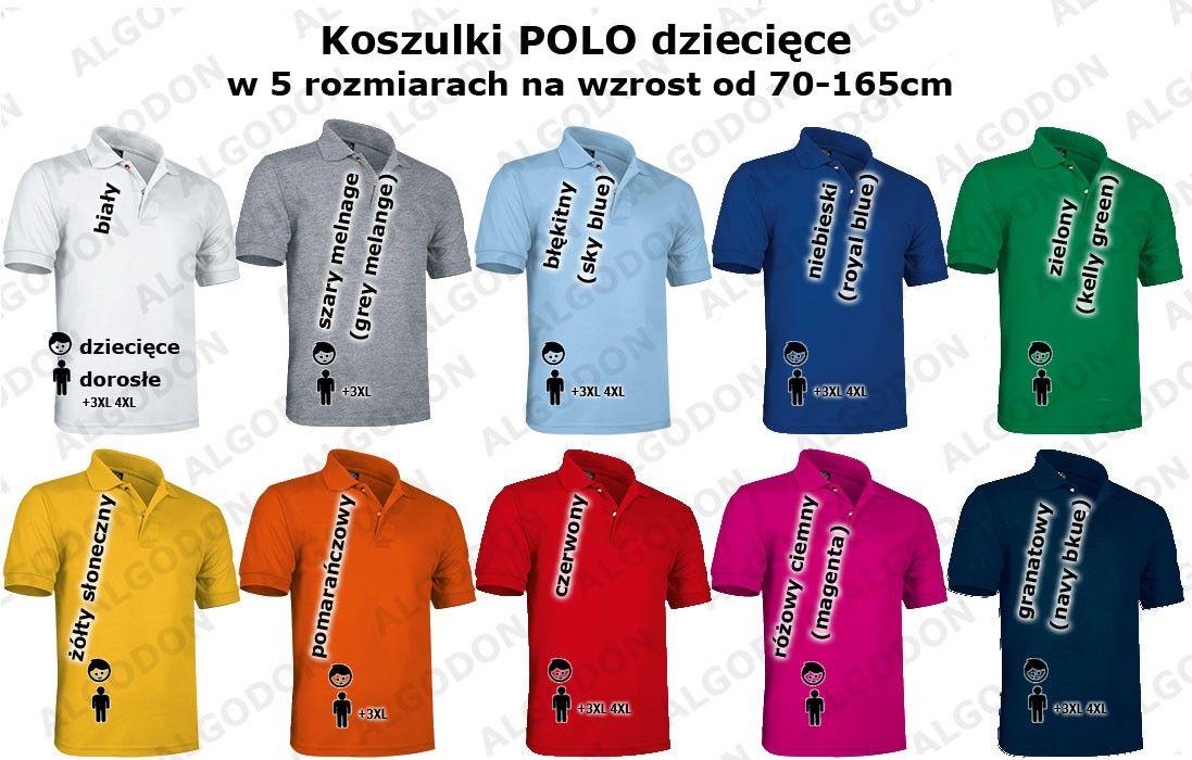 Dziecięca koszulka polo mundurek szkolny 100% bawełna