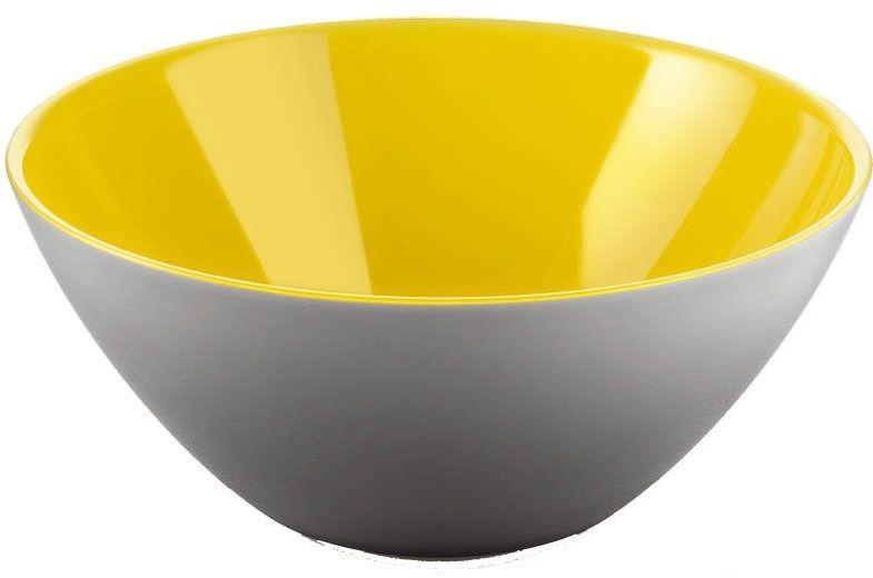 Guzzini - my fusion - misa 25 cm, czarno- żółta - żółty szary
