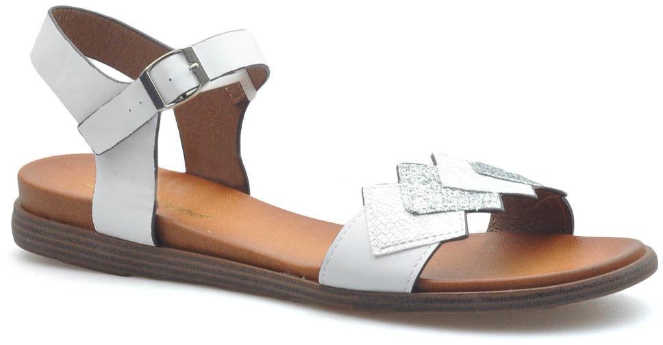 Sandały Sergio Leone SK049 Białe