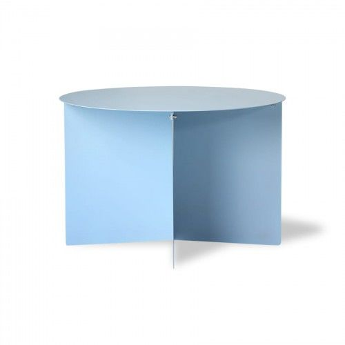 Okrągły stolik kawowy metalowy niebieski HK Living (60)