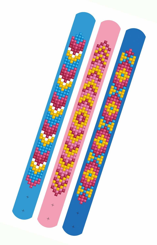 Wspaniale kreatywne hobby DTZ11-012 zestaw fal, 3 błyszczące bransoletki do samodzielnego ozdobienia, regulacja długości, idealne dla dzieci