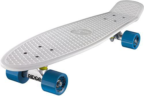 Ridge Deskorolka Big Brother nikiel 69 cm Mini Cruiser, biała/niebieska