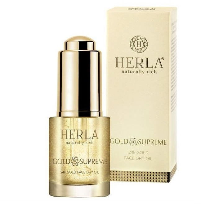 Herla Gold Supreme Złoty liftingujący suchy olejek do twarzy z drobinkami 24K złota 15ml
